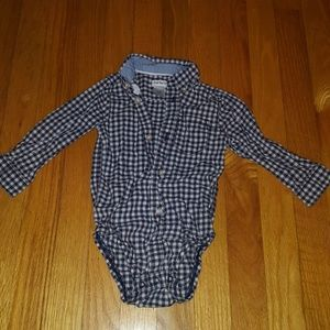 Baby boys button up onsie